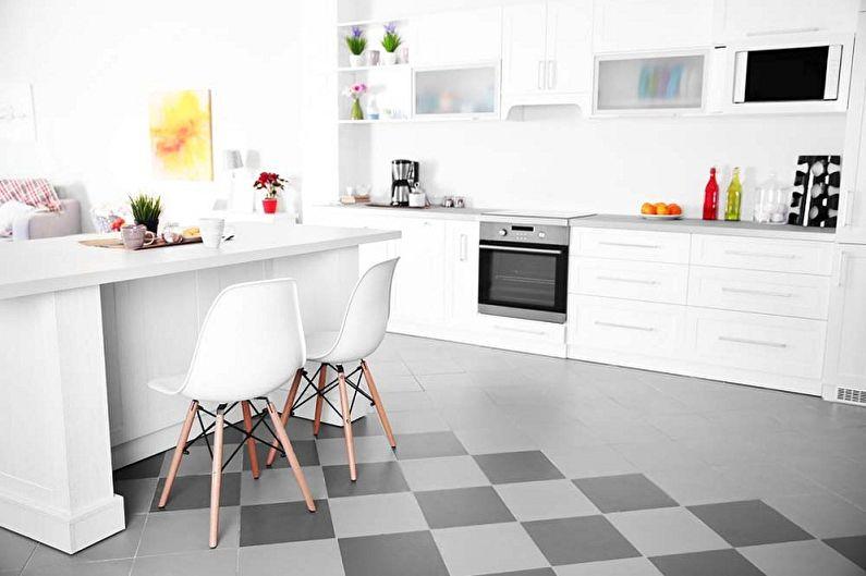 Белая кухня в стиле минимализм - Дизайн интерьера