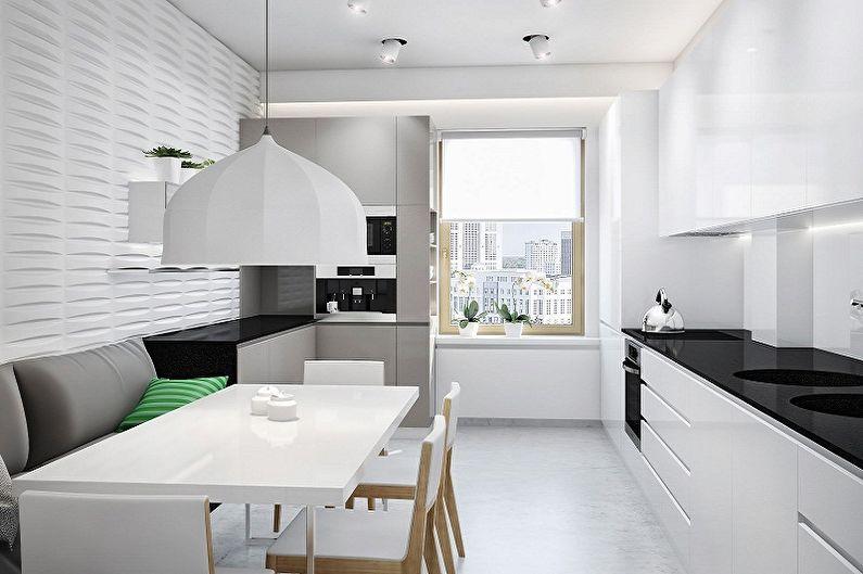 Дизайн кухни в стиле минимализм - Отделка пола