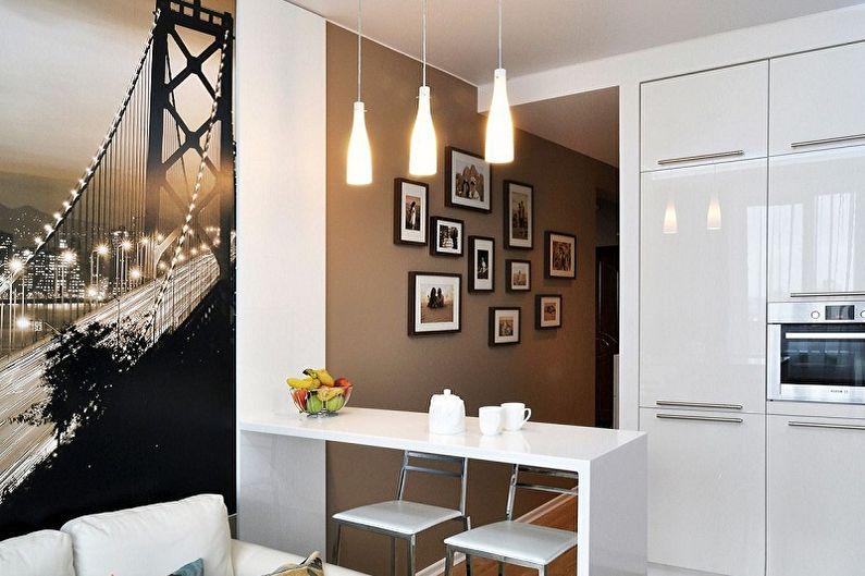 Дизайн кухни в стиле минимализм - Отделка стен