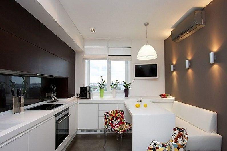 Дизайн кухни в стиле минимализм - Освещение и декор