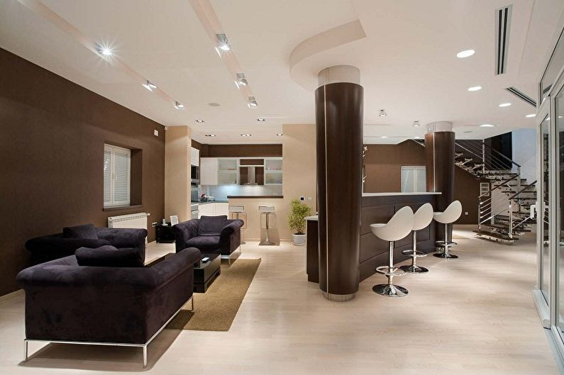 Дизайн интерьера кухни в стиле минимализм - фото