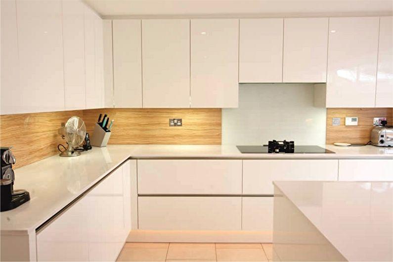 Отделка рабочей стены на кухне - Панели ПВХ