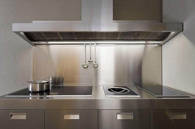 Отделка рабочей стены на кухне - Металл