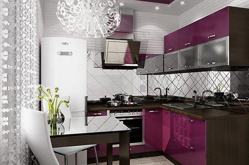 Отделка рабочей стены на кухне - Зеркальная поверхность