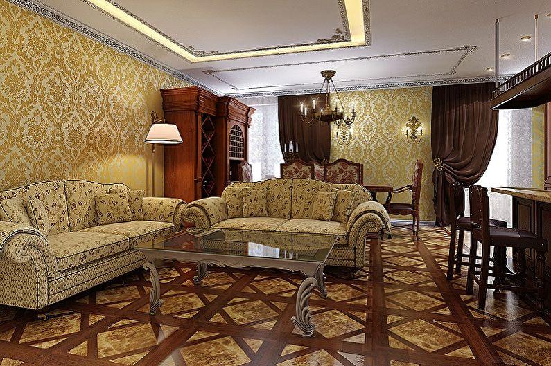 Обои для зала - Обои и стили интерьеров