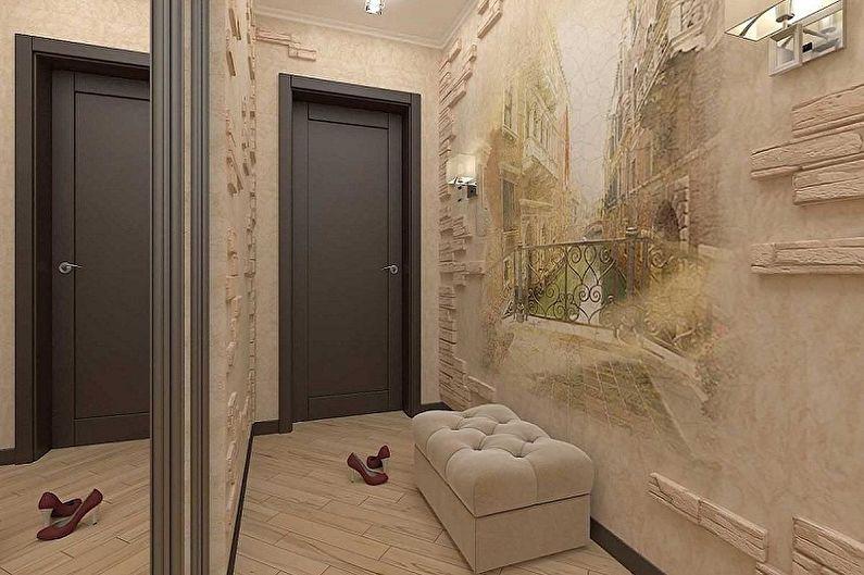 Дизайн маленькой прихожей - Отделка стен