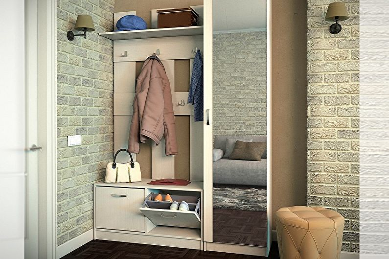 Дизайн маленькой прихожей - Мебель