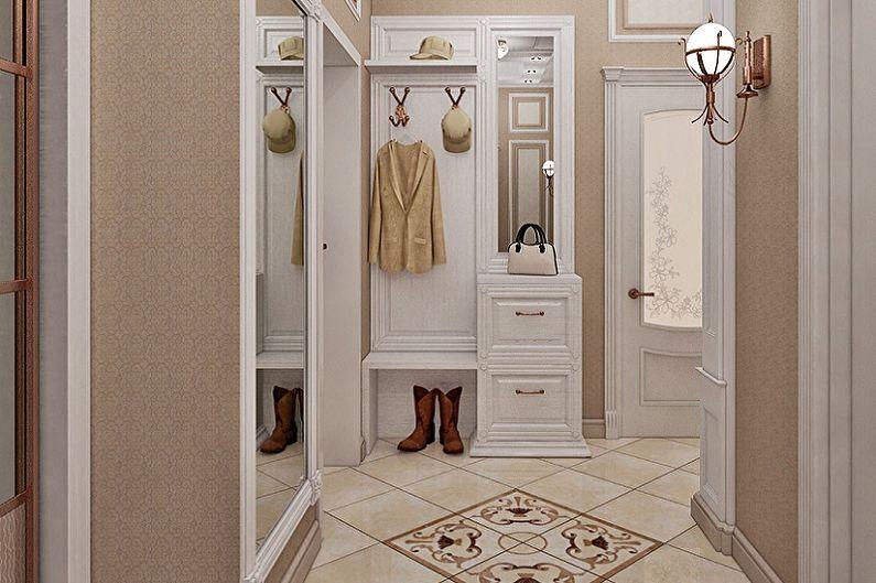 Маленькая прихожая в классическом стиле - Дизайн интерьера
