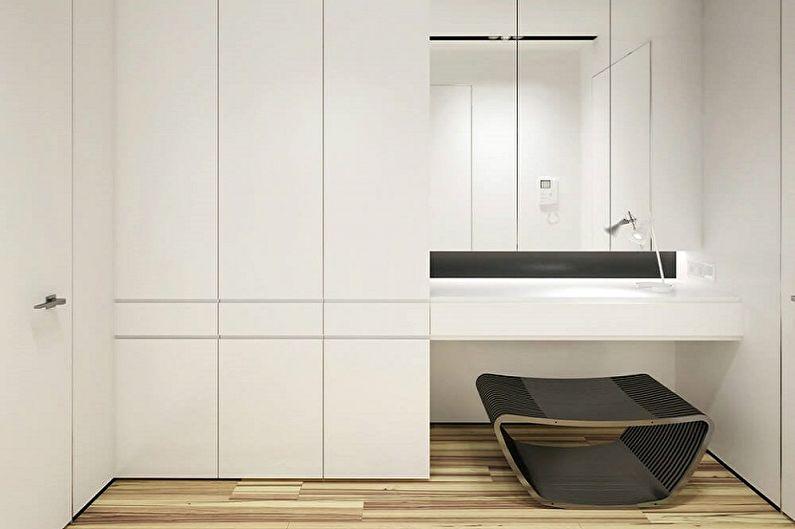 Маленькая прихожая в стиле минимализм - Дизайн интерьера