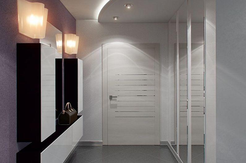 Дизайн интерьера маленькой прихожей - фото