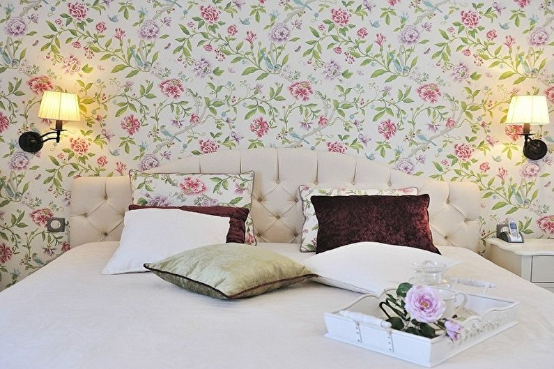 Обои для спальни: 80 фото и идей