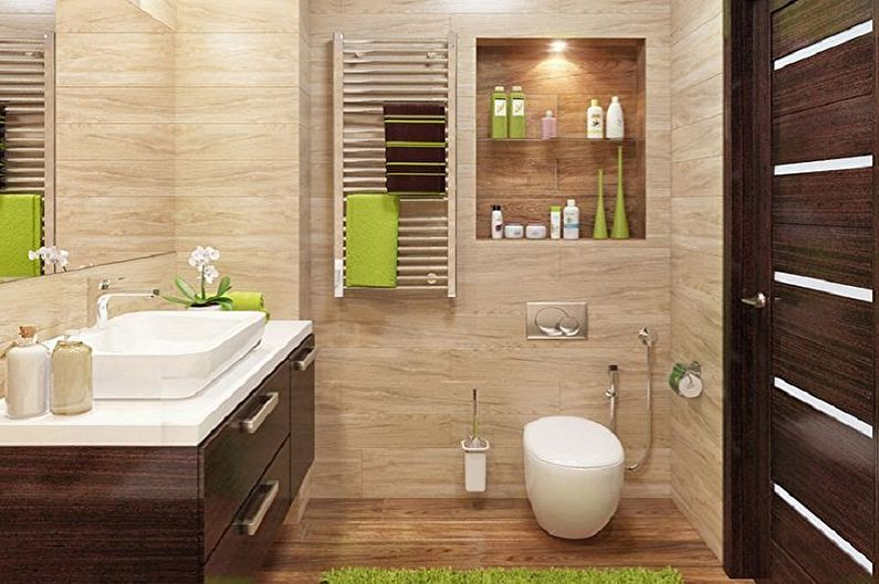 70+ идей отделки стен в туалете (фото)