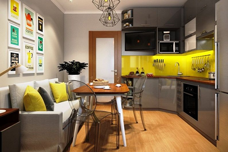 Кухня 3 на 3 метра: 80 идей дизайна (фото)