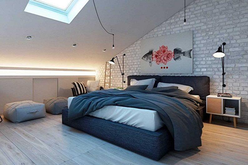 Дизайн спальни на мансарде: 85 фото-идей