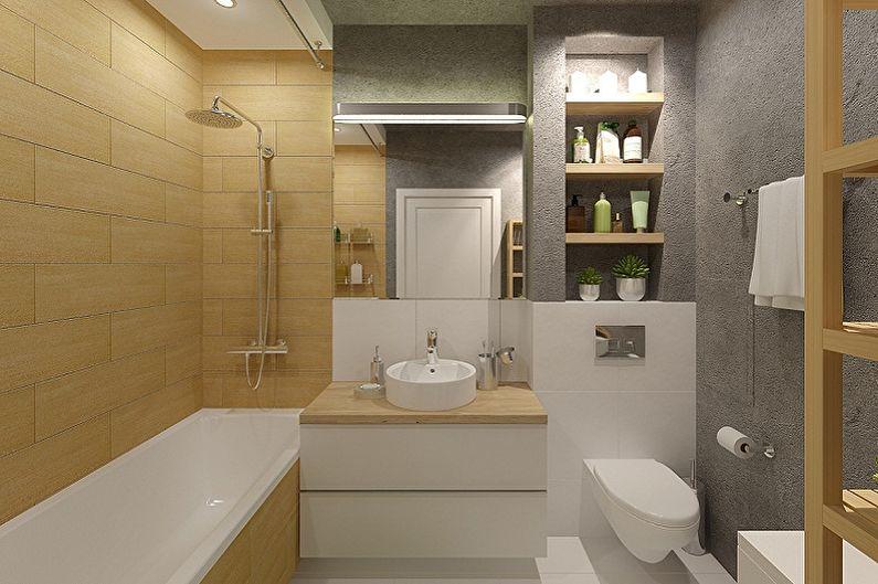Дизайн ванной комнаты 6 кв.м. (85 фото)