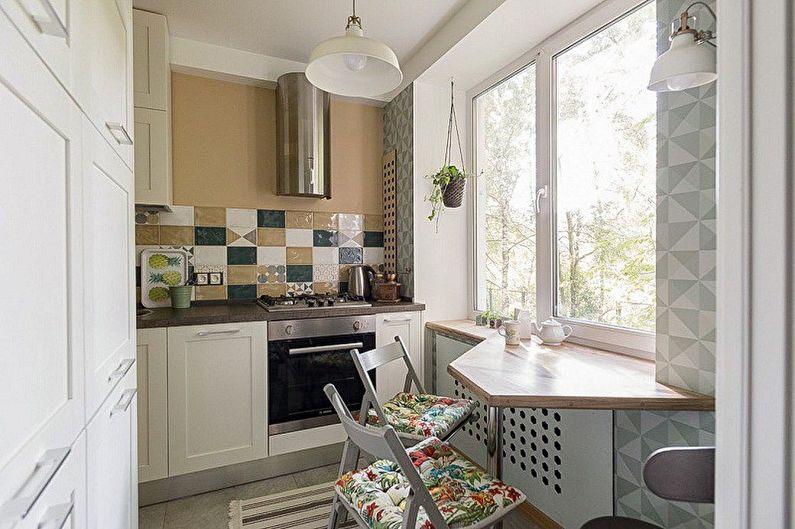 Дизайн интерьера, идеи для ремонта и отделки маленькой кухни