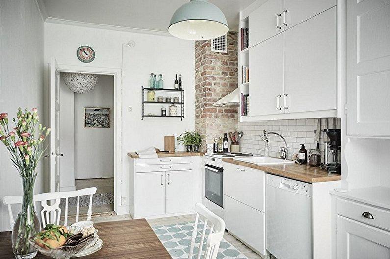 Дизайн маленькой кухни (100 фото)