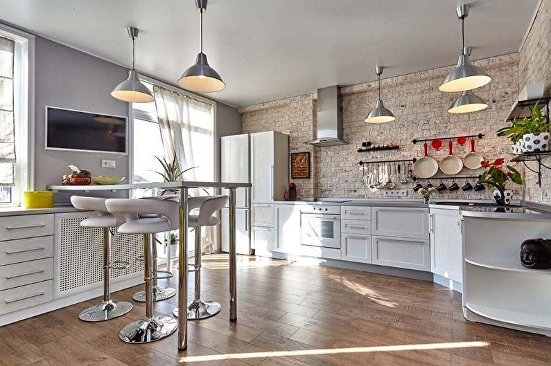 Дизайн кухни в стиле лофт (90 фото)