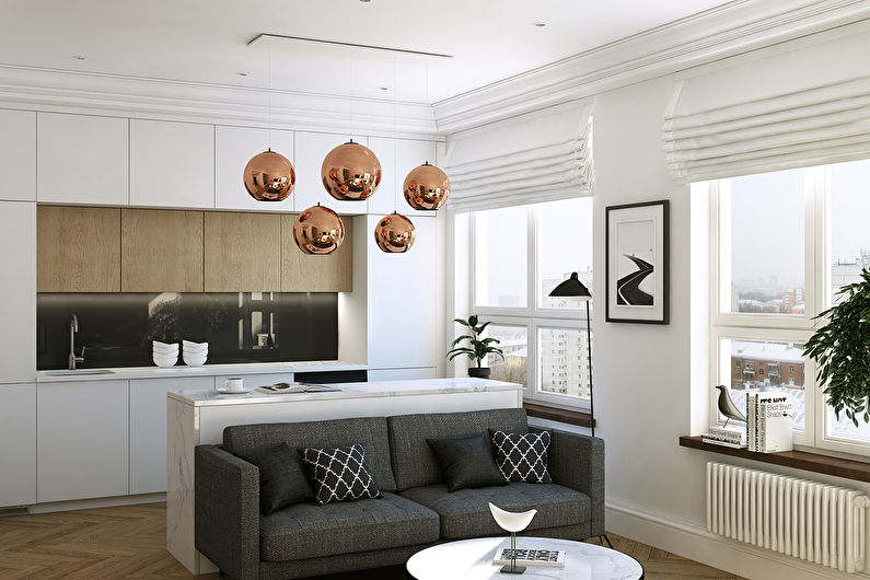 Дизайн квартиры 36 кв.м., ЖК Филиград - фото 1