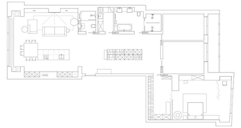 Интерьер квартиры в ЖК Парус, Киев - Планировка