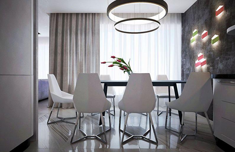 Современный интерьер квартиры в Obolon Residence - фото 1