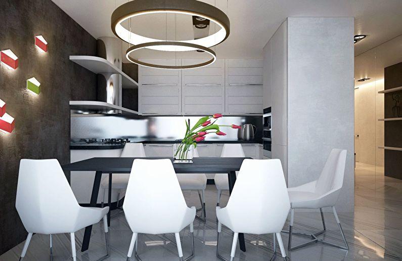 Современный интерьер квартиры в Obolon Residence - фото 2