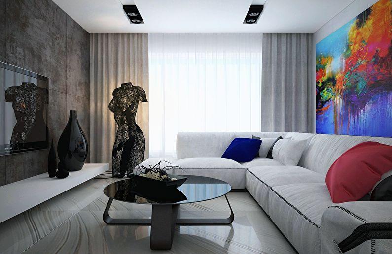 Современный интерьер квартиры в Obolon Residence - фото 3