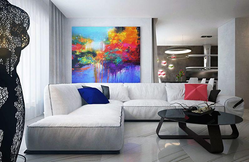 Современный интерьер квартиры в Obolon Residence - фото 4