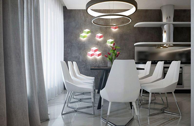 Современный интерьер квартиры в Obolon Residence - фото 5