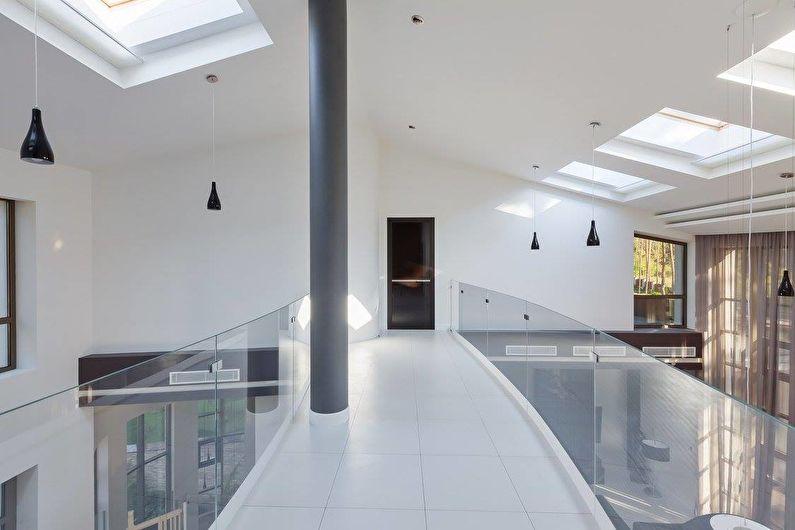 Интерьер загородного дома в черно-белой гамме - фото 41