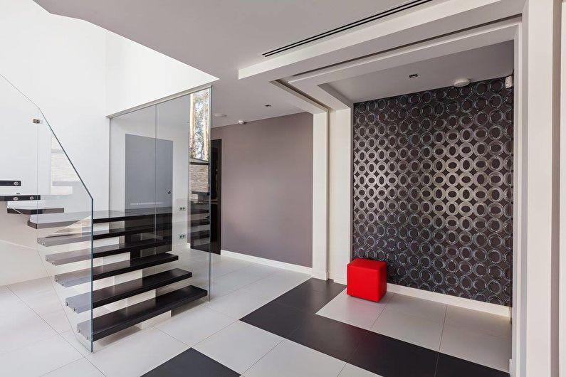 Интерьер загородного дома в черно-белой гамме - фото 42