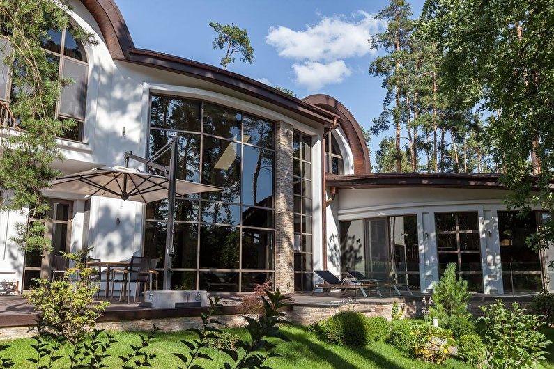 Интерьер загородного дома в черно-белой гамме - фото 46