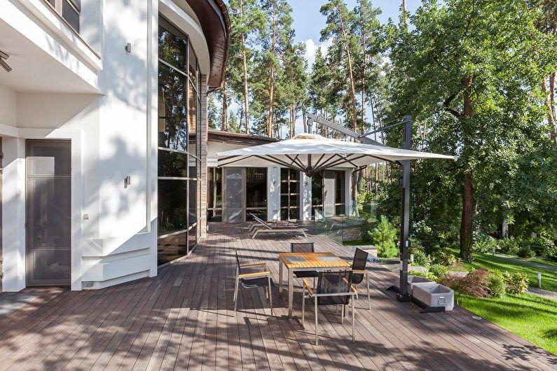 Интерьер загородного дома в черно-белой гамме - фото 47