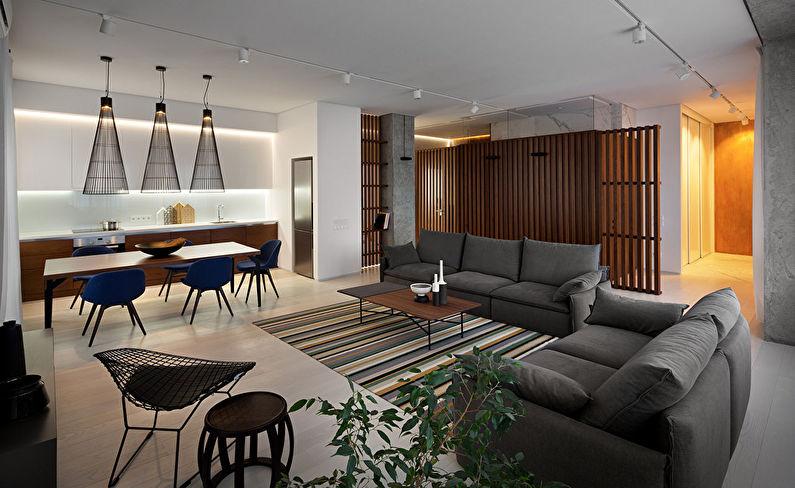 Wood & Marble — дизайн квартиры в Днепропетровске