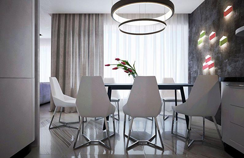 Современный интерьер квартиры в Obolon Residence